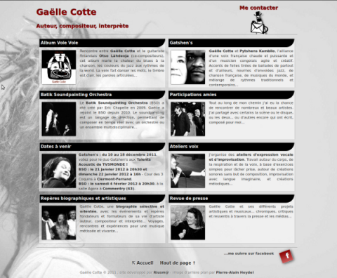 Site web gaellecotte.fr (2011)
