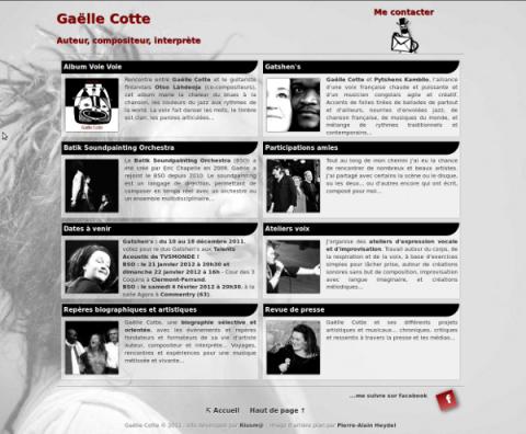 Site web gaellecotte.fr (2011)