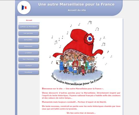 Site web uneautremarseillaisepourlafrance.fr 2011