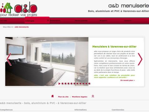 Site web a&b menuiserie 2012