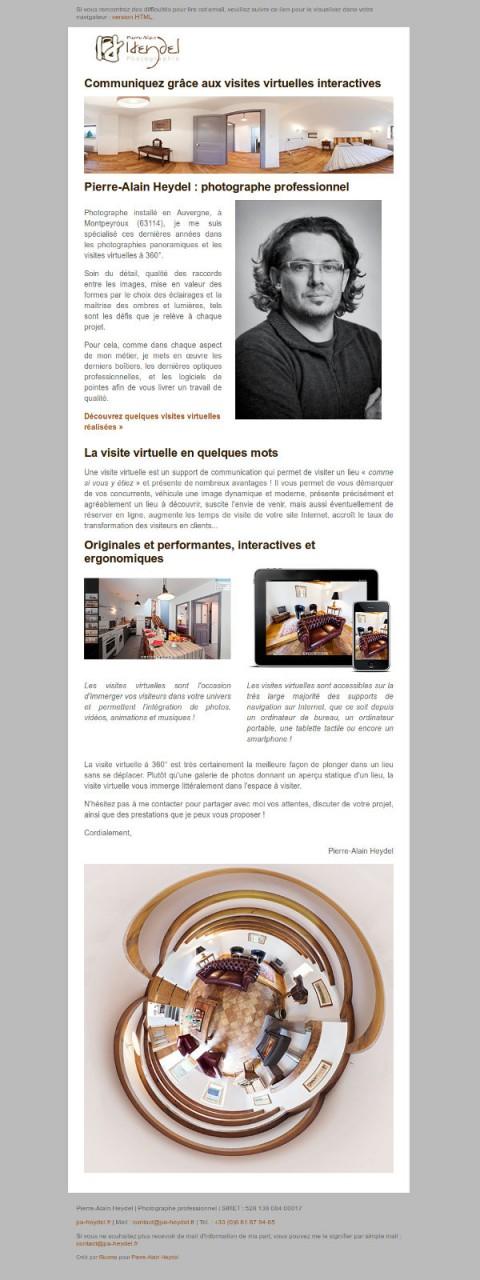 Mail HTML visites virtuelles Pierre-Alain Heydel