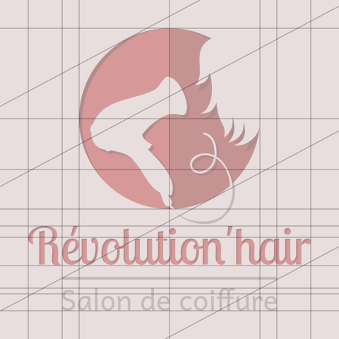Logo Révolution'hair (recherche graphique)