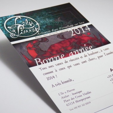 Carte de vœux 2014 L'île o Pierres