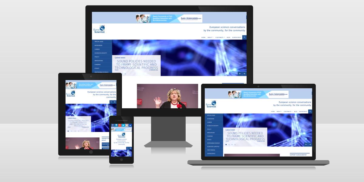 Site web EuroScientist (responsive)
