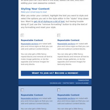 Template newsletter EuroScience
